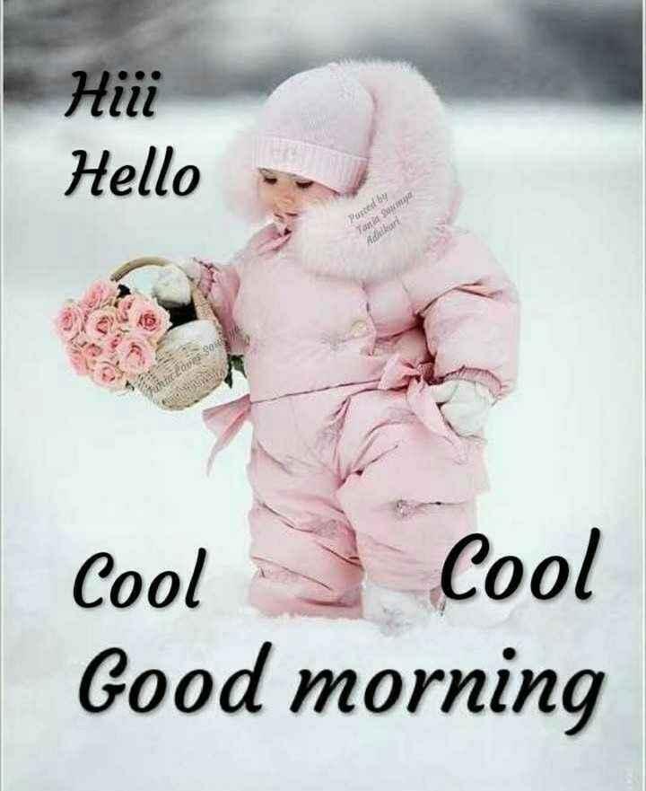 ☀️गुड मॉर्निंग☀️ - Hiii Hello Posted by Tania Soumya Adhikari SO OD Cool Cool Good morning - ShareChat
