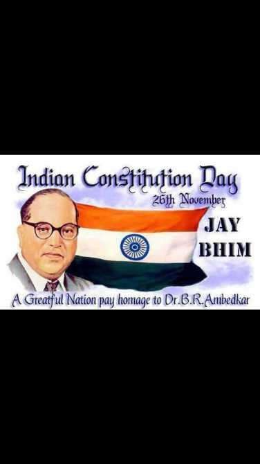 ⚖️भारतीय संविधान दिवस - Indian Constituțion Day 26th November JAY BHIM A Greatful Nation pay homage to Dr . B . R . Ambedkar - ShareChat