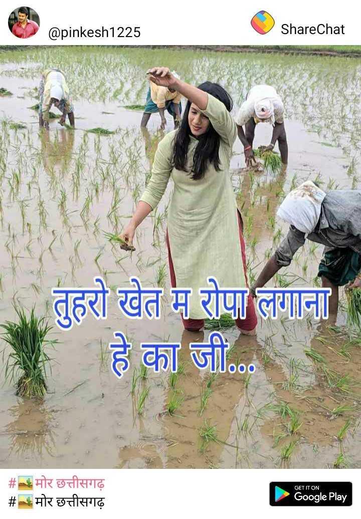 🏛️ मद्रास दिवस - @ pinkesh1225 ShareChat तुहरो खेत म रोपा लगाना हे का जी . . . GET IT ON # मोर छत्तीसगढ़ # मोर छत्तीसगढ़ Google Play - ShareChat