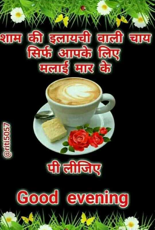 🖊️ लव शायरी और status ❤️ - शाम की इलायची वाली चाय सिर्फ आपके लिए मलाई मार के @ riti5057 पीलीजिए Good evening - ShareChat