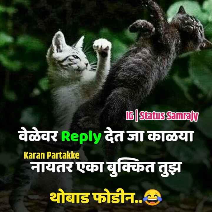 ⚡️लेटेस्ट Video - G | Status Samrajy वेळेवर Reply देत जा काळया Karan Partakke नायतर एका बुक्कित तुझ थोबाड फोडीन . . - ShareChat