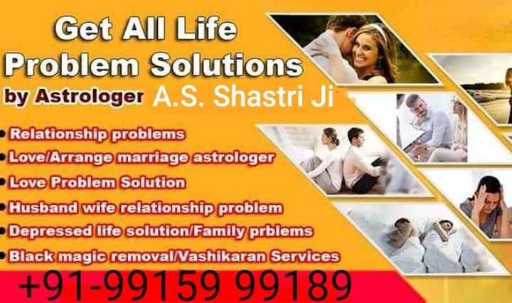 🗓️शेयरचैट कैलेंडर - Get All Life Problem Solutions by Astrologer A . S . Shastri Ji Relationship problems Love Arrange marriage astrologer Love Problem Solution Husband wife relationship problem Depressed life solution / Family prblems Black magic removal / Vashikaran Services Love Problem Solutton + 91 - 99159 99189 - ShareChat