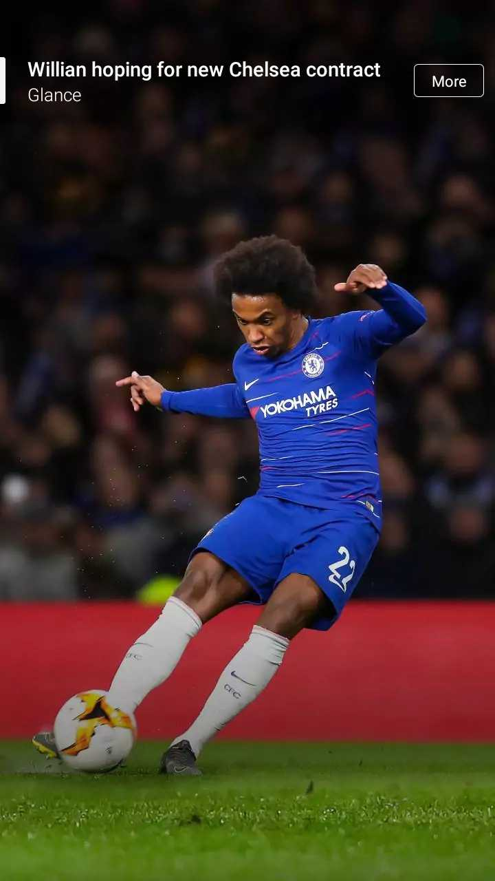 ⚽️ফুটবল - Willian hoping for new Chelsea contract Glance More YOKOHAMA TYRES - ShareChat