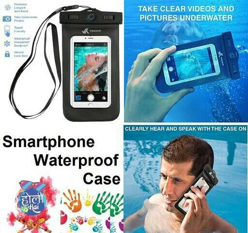 🛍️ હોળીની ખરીદી 🎈 - TAKE CLEAR VIDEOS AND PICTURES UNDERWATER noworo CLEARLY HEAR AND SPEAK WITH THE CASE ON Smartphone Waterproof Del Case - ShareChat