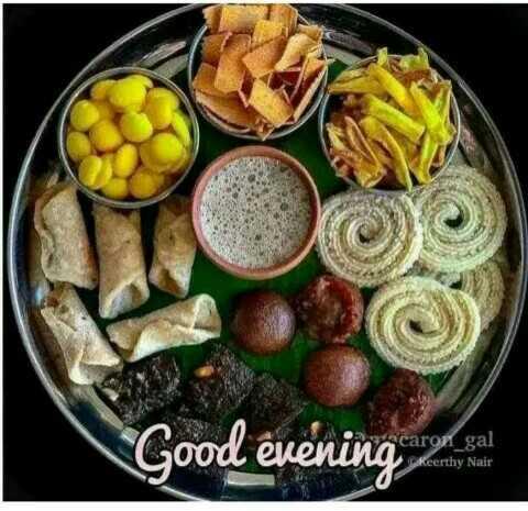 ☕️மாலை வணக்கம் - Good evening med en Scaron _ gal Keerthy Nair - ShareChat
