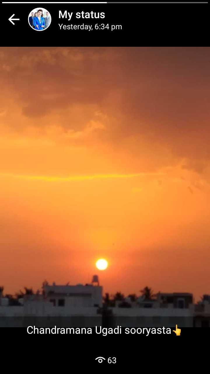 🗓️ಯುಗಾದಿ ಪಂಚಾಂಗ - 6 My status Yesterday , 6 : 34 pm Chandramana Ugadi sooryasta o 63 - ShareChat
