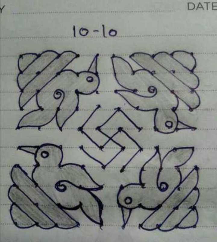 🕸️ ರಂಗೋಲಿ - DATE 1o - lo - ShareChat