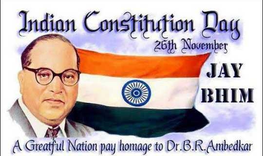 ⚖️ಸಂವಿಧಾನ ದಿನ - Indian Constitution Day 26th November JAY BHIM A Greatful Nation pay homage to Dr . B . R . Ambedkar - ShareChat