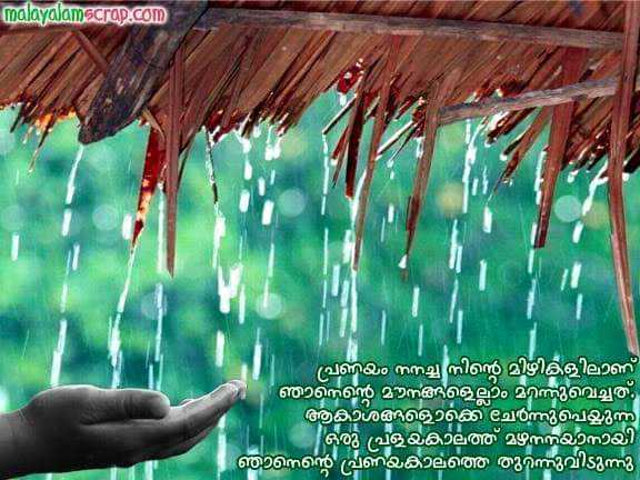🏞️ ഇമേജ് സ്റ്റാറ്റസ് - malayalamscrap . com പ്രണയം നനച്ച നിൻ മിഴികളിലാണ് ഞാനെന്റെ മൗനങ്ങളെല്ലാം മറന്നുവെച്ചത് . ആകാശങ്ങളൊക്കെ ചേർന്നുപെയ്യുന്ന ഒരു പളയകാലത്ത് മഴനനയാനായി ഞാനെന്റെ പ്രണയകാലത്തെ തുറന്നുവിടുന്നു - ShareChat