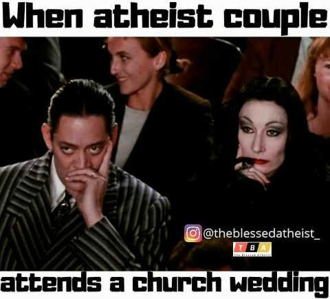 ⚛️ യുക്തിവാദം - When atheist couple o @ theblessedatheist _ TBA attends a church wedding - ShareChat