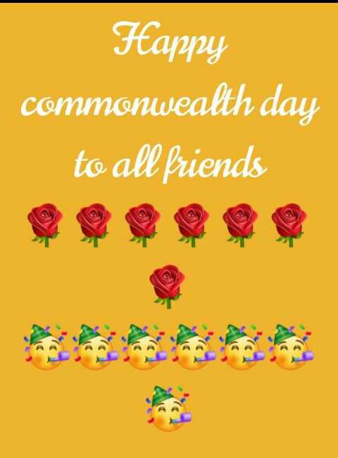 🏋️♂️ कॉमनवेल्थ डे - Happy commonwealth day to all friends - ShareChat