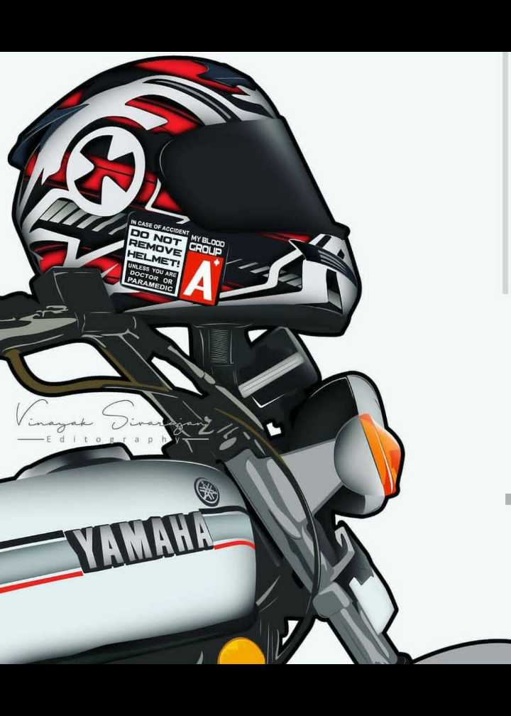 🏍️ RX100 - IN CASE OF ACCIDENT MY BLOOD DO NOT CROUP REMOVE HELMET ! UNLESS YOU ARE DOCTOR OR PARAMEDIC Vinayak - Editograph YAMAHA - ShareChat