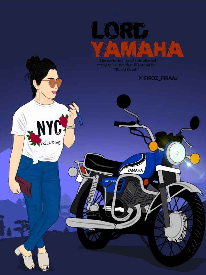 🏍️ RX100 - LORD YAMAHA The performance of this bike led many to believe that RD stood for Rapid Death FIROZ _ FIRAAJ NYCH EXCLUSIVE YAMAHA RD 350 - ShareChat