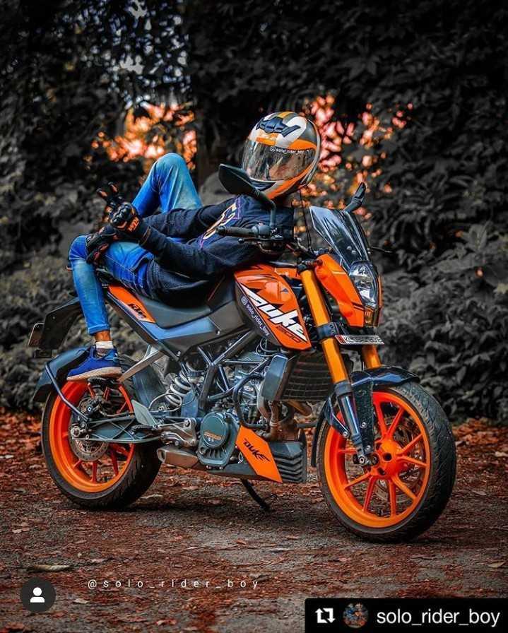 🏍️ ktm - CSS DUKE @ so 10 der 11 solo _ rider _ boy - ShareChat