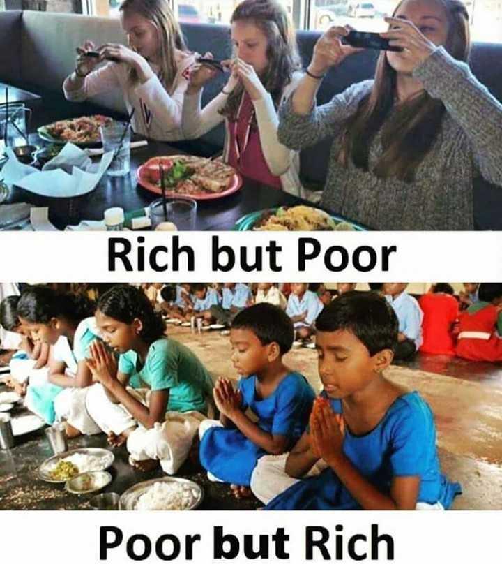🌹... it's true...🌹 - Rich but Poor Poor but Rich - ShareChat