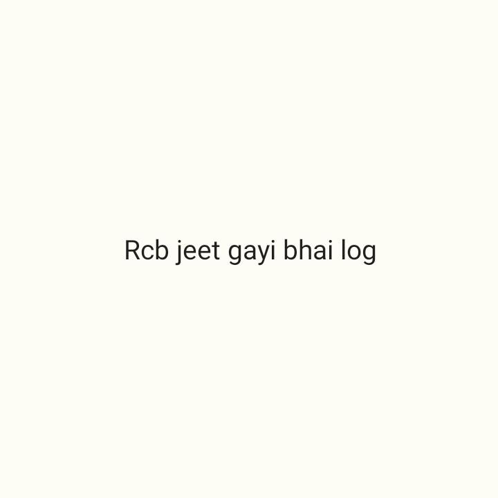 🏏 KXIP 💗 vs RCB ❤️ - Rcb jeet gayi bhai log - ShareChat