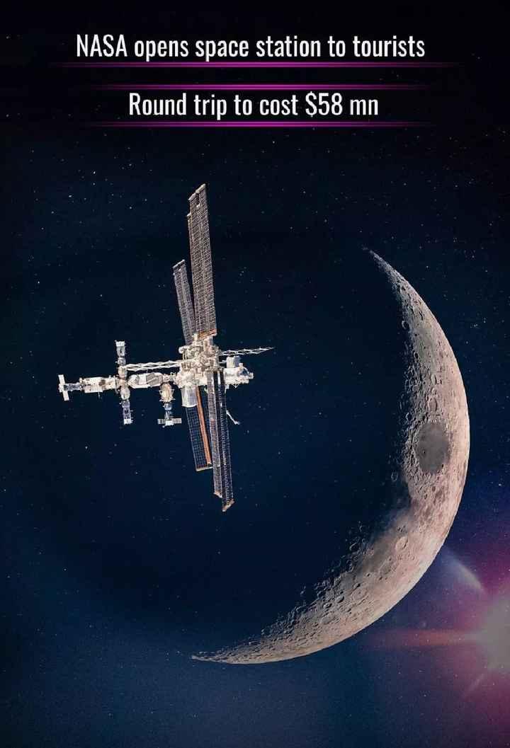 📰 08 જૂનનાં સમાચાર - NASA opens space station to tourists Round trip to cost $ 58 mn - ShareChat