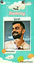 ધનતેરસ - R : @ 26728801 Posted on ShareChat Kappy Birthday Virat HAPPY BIRTHDAY # MR . PERFECT Made by P9videos R : @ 26728801 Posted on Sharechat Happy Birthday Virat 5 November Made by p9videos - ShareChat