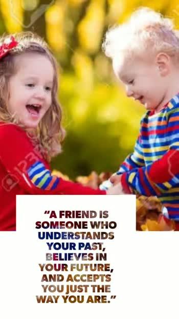 🤝ఫ్రెండ్షిప్ వీడియో స్టేటస్ - A LOYAL FRIEND LAUGHS AT YOUR JOKES WHEN THEY ' RE NOT SO GOOD , AND SYMPATHIZES WITH YOUR PROBLEMS WHEN THEY ' RE NOT SO BAD . FRIENDSHIP IS THE HARDEST THING IN THE WORLD TO EXPLAIN . IT ' S NOT SOMETHING YOU LEARN IN SCHOOL BUT IF YOU HAVEN ' T LEARNED THE MEANING OF FRIENDSHIP , YOU REALLY HAVEN ' T LEARNED ANYTHING . - ShareChat