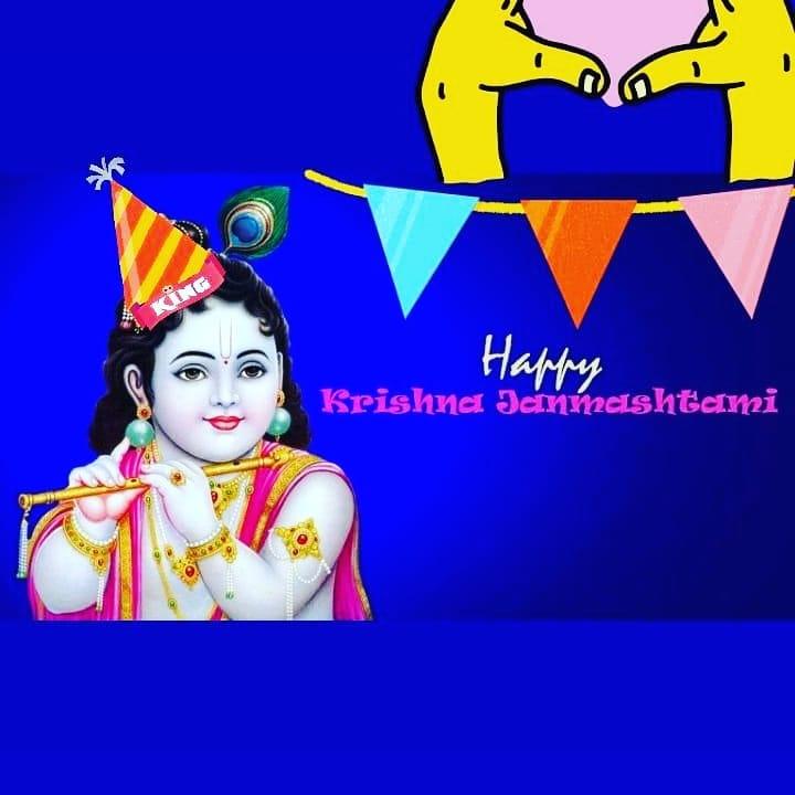 janmastmi special - Happy Krishna Seinmelshtami - ShareChat