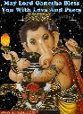 ಗೌರಿ-ಗಣೇಶ ಹಬ್ಬ - May Lord Ganesha Bless You With Love And Peace ll www . scrapu . com - ShareChat