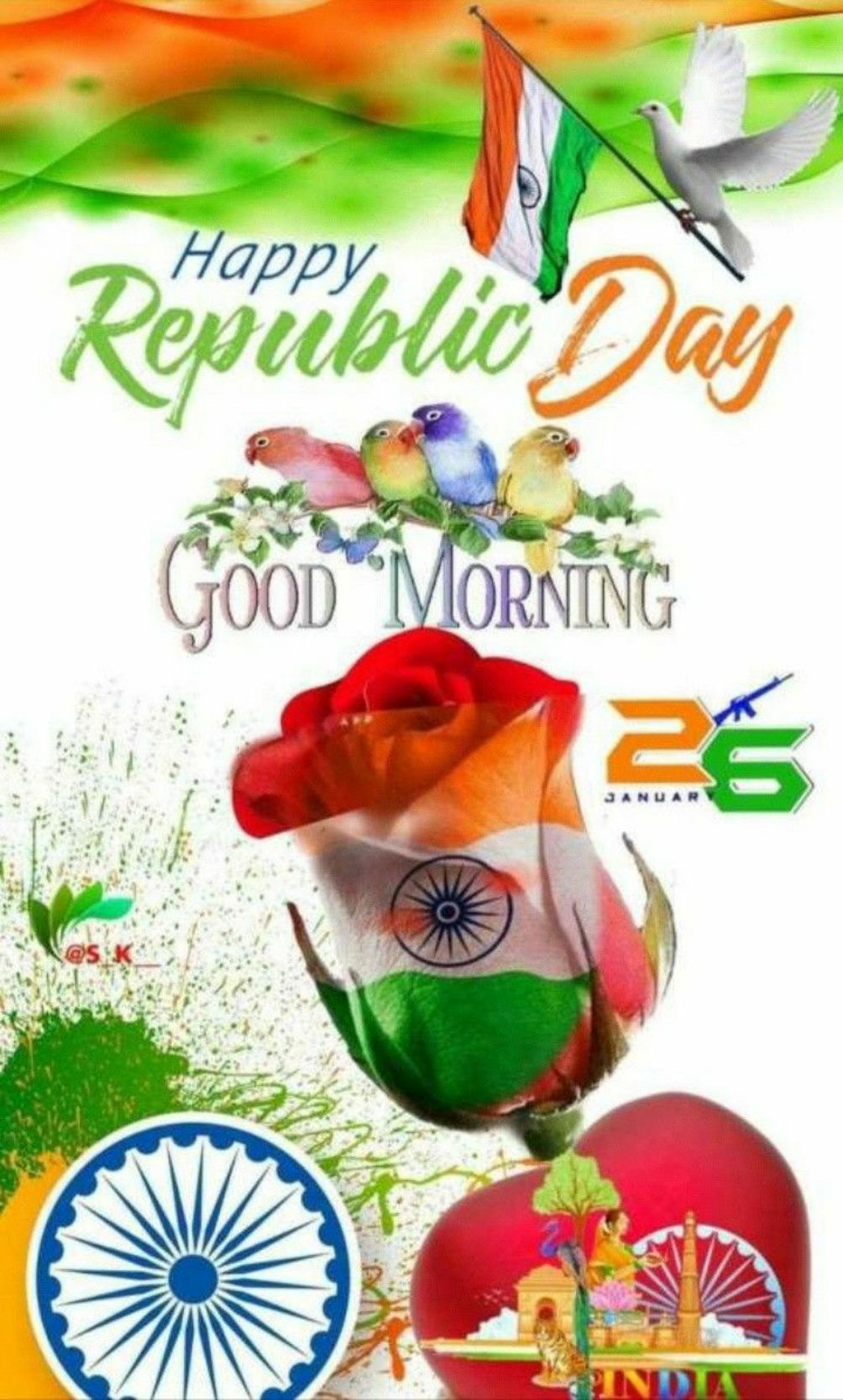 🌞 ഗുഡ് മോണിംഗ് - Happy Republic Day GOOD MORNING JANU - ShareChat