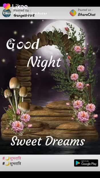 🌙शुभरात्रि - Posted by : @ dsingh081 Posted on : ShareChat Good X Night # शुभरात्रि BỊ KITA Likee gic Play Likee ID : Nishadrockstar Likee ID : Nishadrockstar Likee Formerly LIKE Video - ShareChat