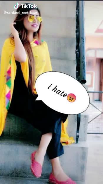 📱 ਵਟਸਐਪ ਸਟੇਟਸ - fake love Tik Tok @ sardarni _ reet _ kaur jiddi kudi . . . 33 @ sardarni _ reet _ kaur - ShareChat