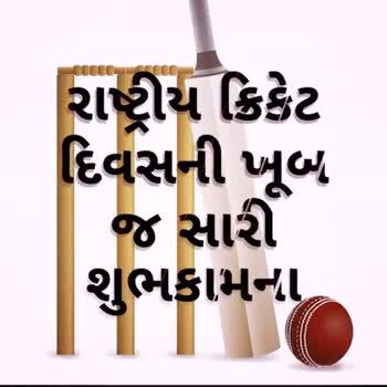 🏏 રાષ્ટ્રીય ક્રિકેટ દિવસ - રાષ્ટ્રીય ક્રિકેટ દિવસની ખૂબ જ સારી શુભકામના - ShareChat