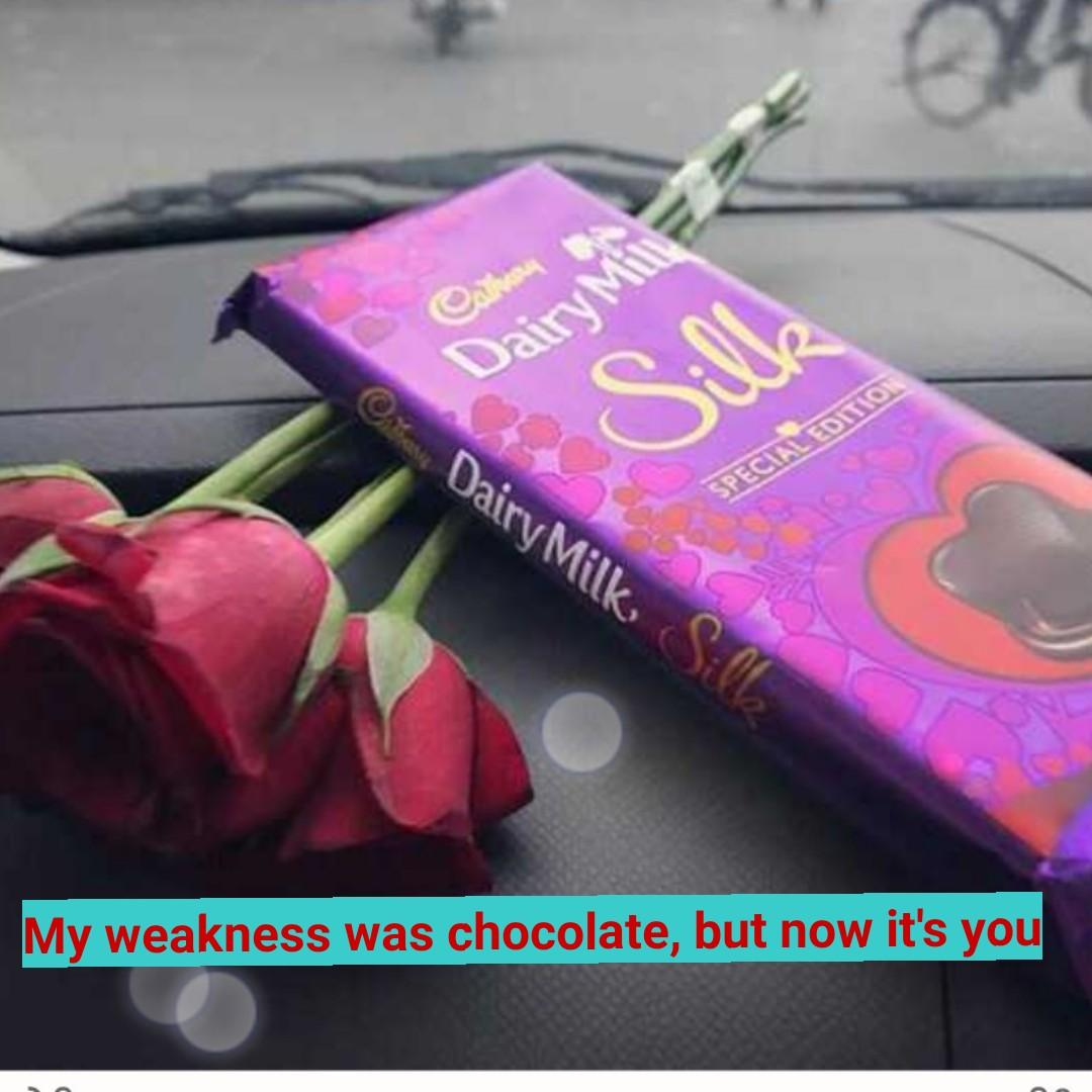📱 ਵਟਸਐਪ ਸਟੇਟਸ - ON Dair Dairy Milk SPECIAL EDITION My weakness was chocolate , but now it ' s you - ShareChat