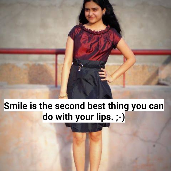 😢 Miss you - Smile is the second best thing you can do with your lips . ; - ) - ShareChat