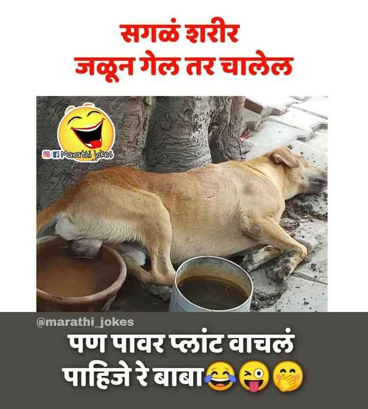 18+ - सगळे शरीर जळून गेल तर चालेल Li Marathi jokes @ marathi _ jokes पण पावर प्लांट वाचलं पाहिजेरे बाबा ) - ShareChat