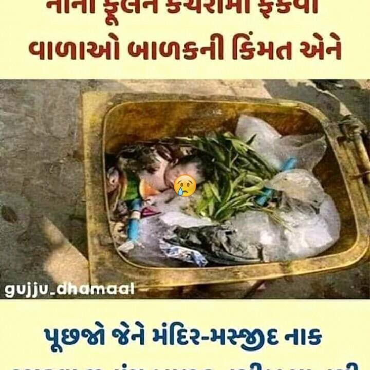 #mari dikri - નાના ફલન કચરામાં ફકપા વાળાઓ બાળકની કિંમત એને gujju _ dhamaal પૂછજો જેને મંદિર - મજીદનાક - ShareChat