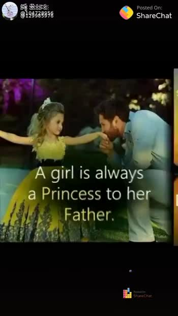 i love my dad - 8124338956 Posted On ShareChat Daddy , a daughters first love On HH ShareChat ShareChat chandra kala 104728956 Na prapancham Follow - ShareChat