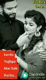 પ્રેમ વિડિઓ - Shivi Music Creation kardu Tujhpe Mai Sab Kurba . . India Download the app - ShareChat