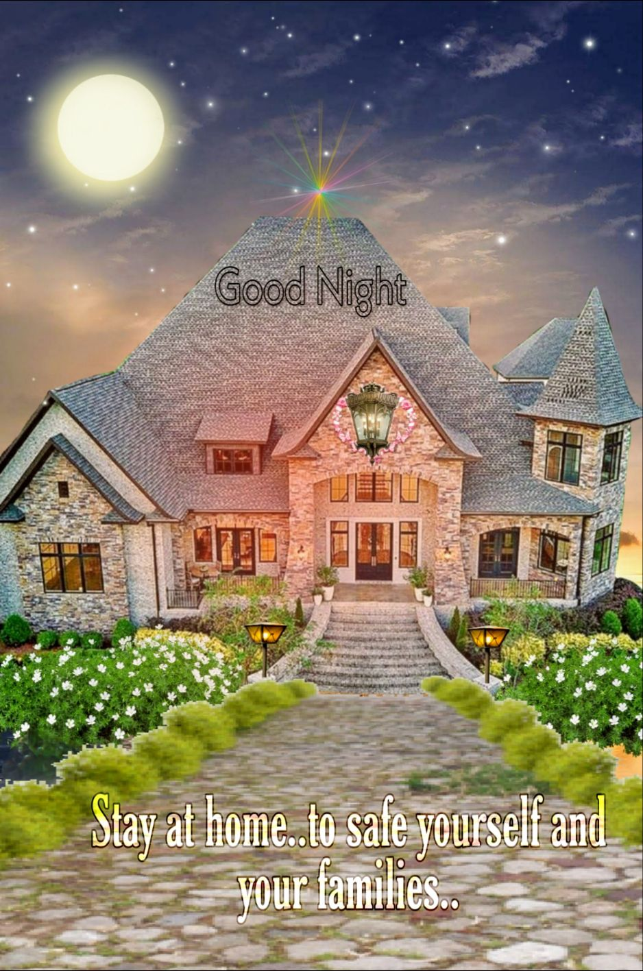 good night - Good Night Stay at home . . to safe yourself and your families . - ShareChat