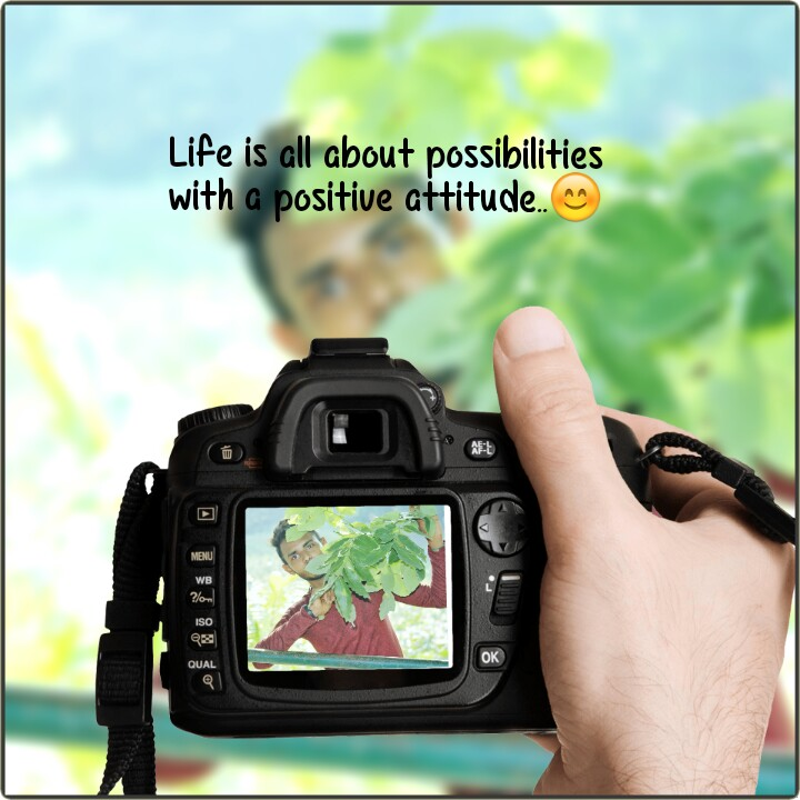 😈 એટિટ્યુડ સ્ટેટ્સ - Life is all about possibilities with a positive attitude . . ☺ ISO Q QUAL - ShareChat