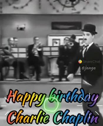 చార్లీ చాప్లిన్ జయంతి - ShareChat janga Happy Birthday Charlie Chaplin » Saretha Cjanga Happy birthdag Charlie Chaplies - ShareChat