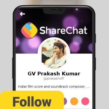 GV Prakash - ShareChat GV Prakash Kumar gvprakashoffl Indian film score and soundtrack composer , . . . Follow - ShareChat
