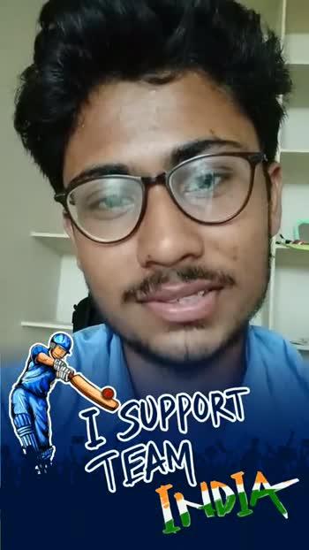 👍అల్ ది బెస్ట్ బ్లూ ఆర్మీ - I SUPPORT VI SUPPORT - ShareChat
