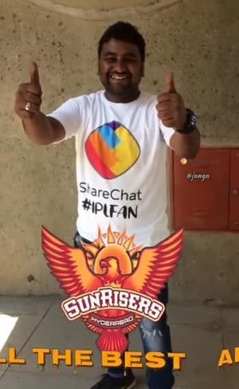 🎉అల్ ది బెస్ట్ SRH - MIT QUE @ janga CUNRISERO HYDERABAD ALL THE BEST HYDERABE SUNRISE : Shareenat clanga RABRD SUNRISER DERABAD THE DE THE BEST I - ShareChat