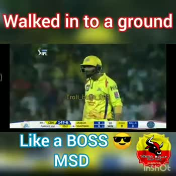 CSK vs RR - Walked in to a ground 715 vivo V15 fbb Troll bulbs 999 6 146 - 6 Like a BOSS MSD Tooc BULLS Inshot Walked in to a ground Sup ! Troll _ bulls _ 999 1 6146 - 6233 Like a BOSS MSD TeoC BULLS Inshot - ShareChat