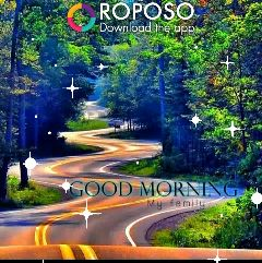 have a nice day...✍🌷🌷 - ROPOSO Download the app GOOD MORNING My family ROPOSO Download the app GOOD MORNIN . My family - ShareChat