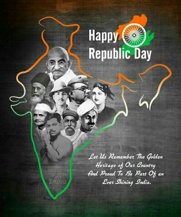 റിപ്പബ്ലിക്ക് ദിനം - Happy ( o ) Republic Day Let Us Remember The Golden Heritage of Our Country And Proud To Be Part of an Ever Shining India . Banu - ShareChat