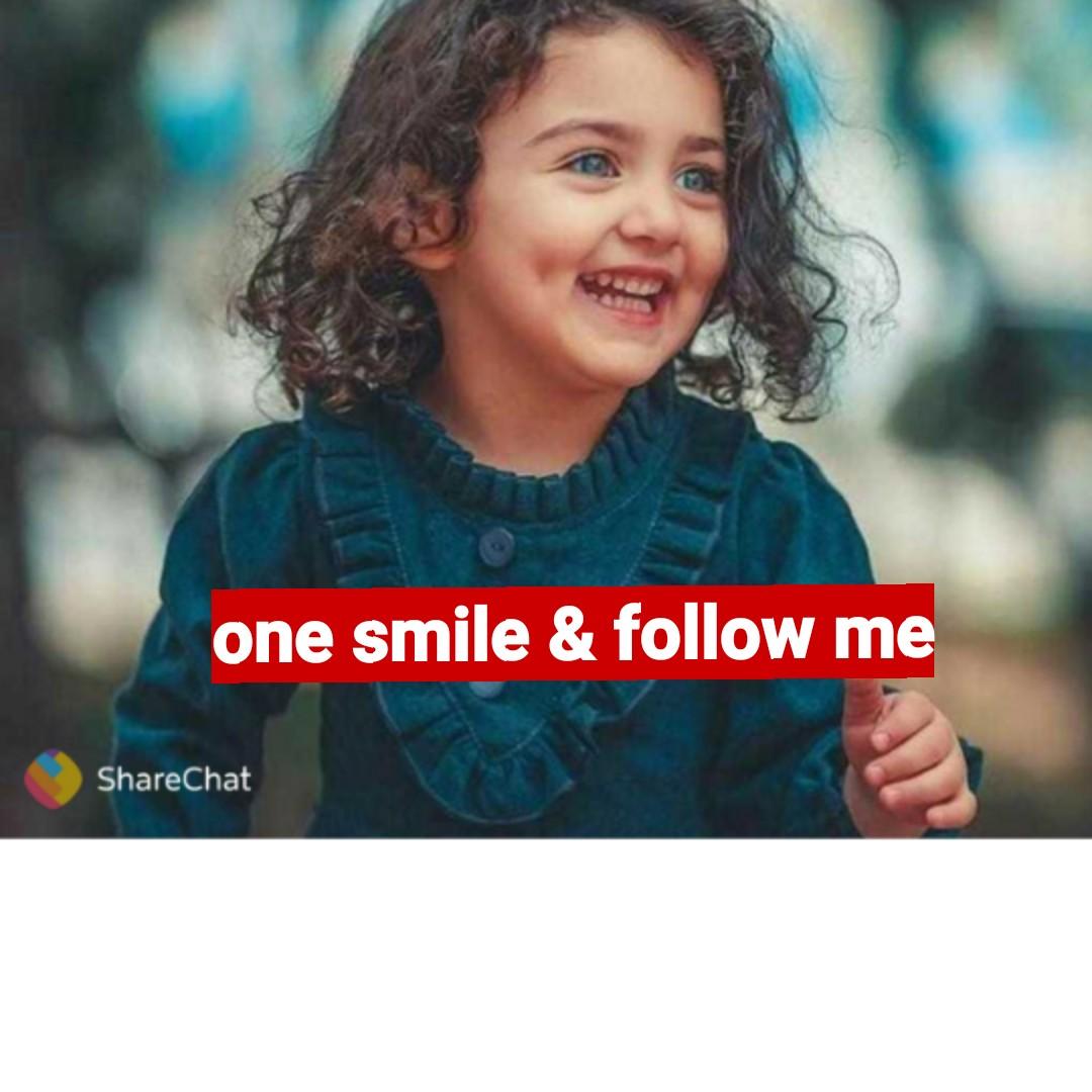 follow me 😘 - one smile & follow me ShareChat - ShareChat