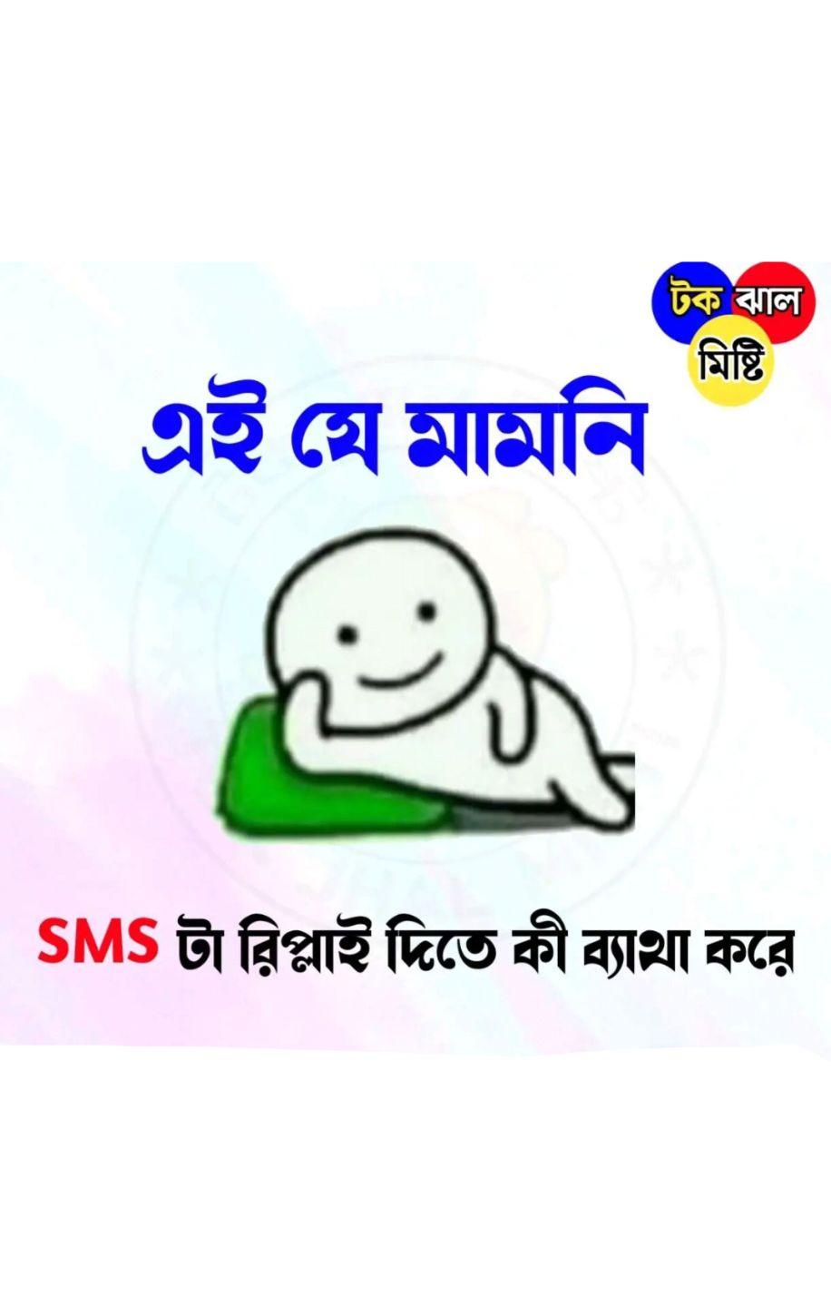 😨ভূতুড়ে - টক ঝাল মিষ্টি এই যে মামনি SMS টা রিপ্লাই দিতে কী ব্যাথা করে - ShareChat