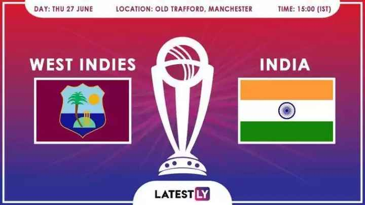 📰 27 જૂનનાં સમાચાર - DAY : THU 27 JUNE LOCATION : OLD TRAFFORD , MANCHESTER TIME : 15 : 00 ( IST ) WEST INDIES INDIA LATESTLY - ShareChat