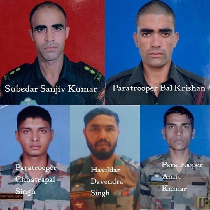 🎖️देश के जांबाज - Subedar Sanjiv Kumar Paratrooper Bal Krishan Paratrooper Havildar Paratrooper • Amit Chhatrapal Davendra Singh Kumar Singh - ShareChat