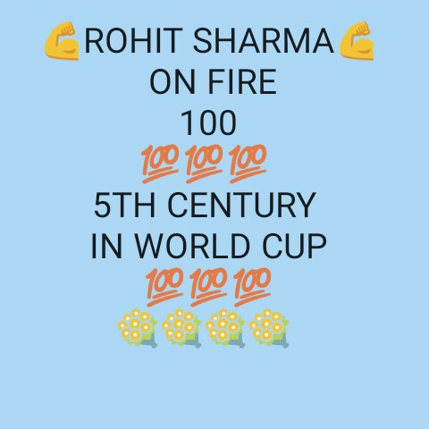 🏏IND vs SL Live Score 🔴 - ROHIT SHARMA ON FIRE 100 100 100 100 5TH CENTURY IN WORLD CUP 100 100 100 - ShareChat