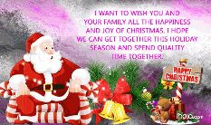 happy christmas - I WANT TO WISH YOU AND YOUR FAMILY ALL THE HAPPINESS AND JOY OF CHRISTMAS . I HOPE WE CAN GET TOGETHER THIS HOLIDAY SEASON AND SPEND QUALITY TIME TOGETHER . HAPPY CHRISTMAS nalo . com - ShareChat